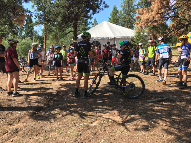 Israeli Cyclists with Campers