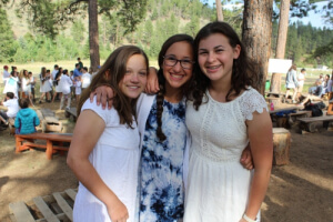 Campers on Shabbat