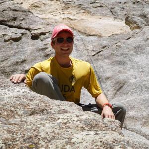 Isaac Rosen Climbing rocks